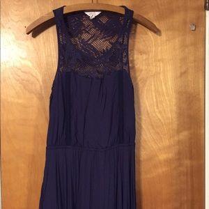 Sun & Shadow navy blue sundress